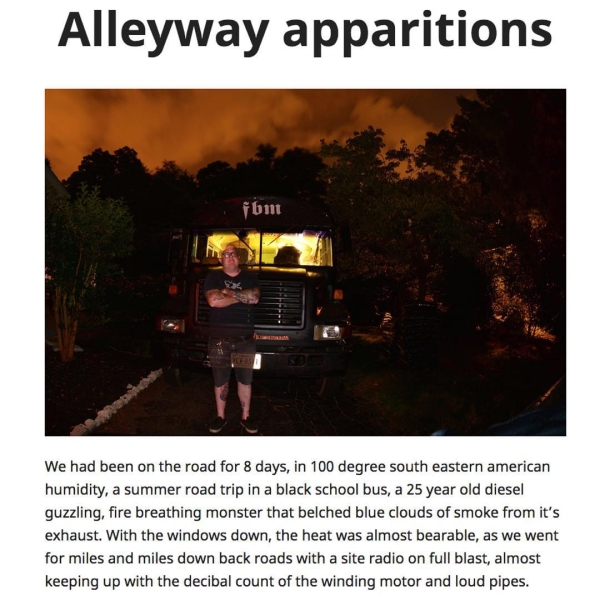 Latest post from crandallfbm Alleyway apparitions through a bus resurrectionhellip