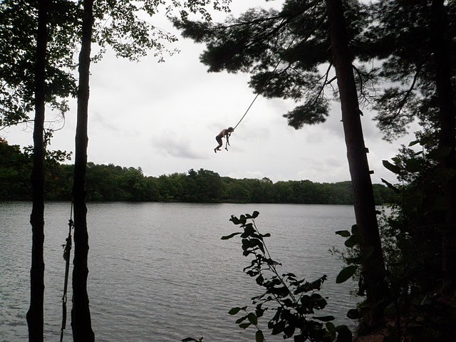 Rope swings are one of my favorite ways to enjoy summer. my friend emerson took this picture of me so I could remember how much fun we were having