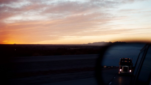 El Paso sunset. Interstate 10.