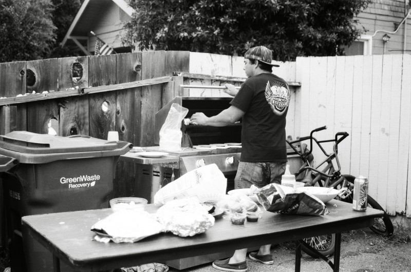 Grill Master: Not to be mistaken for mixmaster mike, we've got GrillMaster Mike lacing up the homies with some hot beef.