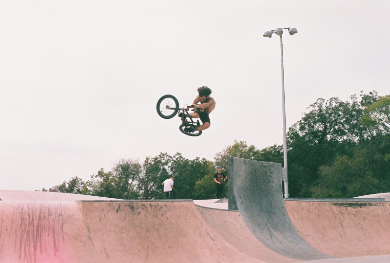 Skateboarder Air-ic Hennessey also rides bikes.