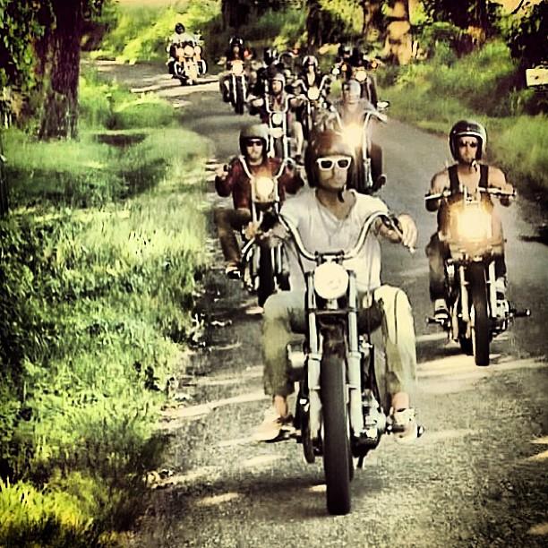 The moto gang in the heart of Ham county via Steve Crandall