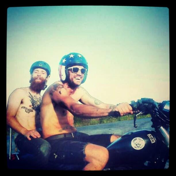 Neil and Bo Murphy.  Riding cupcake.