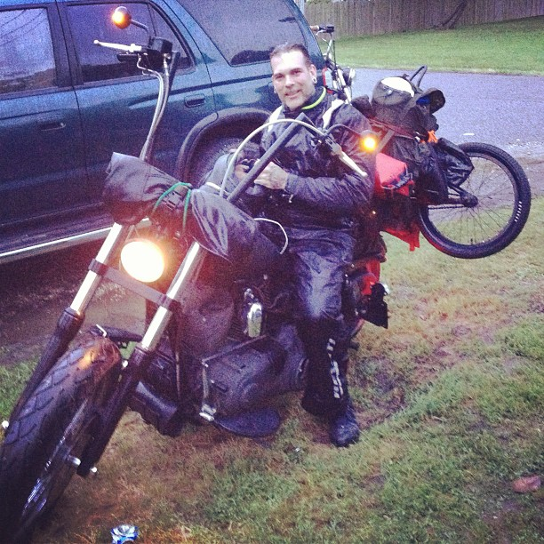 Jason Stieg after the 10 hours of rain from Pittsburgh to Chesapeake